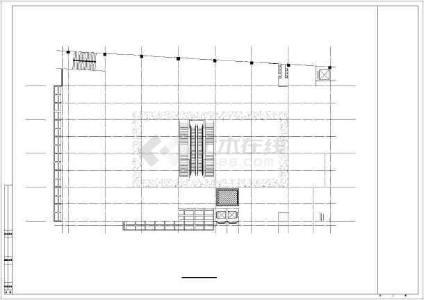 某商场建筑全套CAD设计施工图-图1