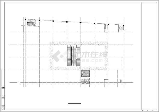 某商场建筑全套CAD设计施工图-图2