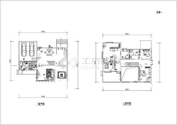 田园风格别墅建筑图(带效果图)-图1