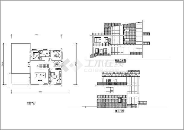 田园风格别墅建筑图(带效果图)-图3