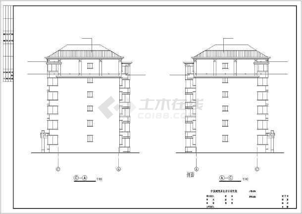 某地住宅建筑图cad-图3