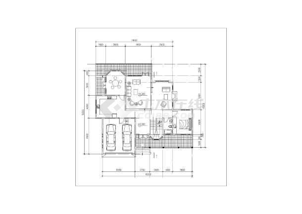 418平米别墅建筑施工图-图1