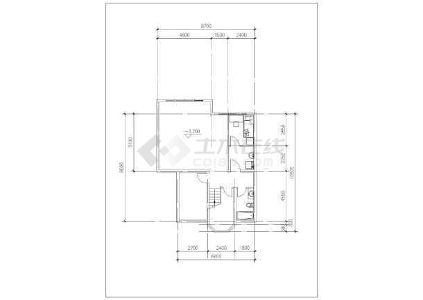 418平米别墅建筑施工图-图2
