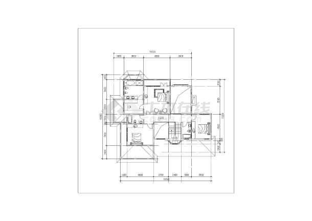 418平米别墅建筑施工图-图3