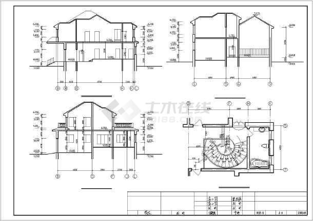 401平米别墅建筑设计图纸-图1