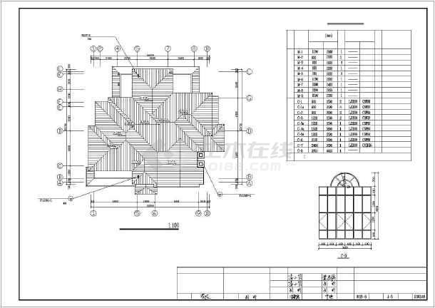 401平米别墅建筑设计图纸-图3