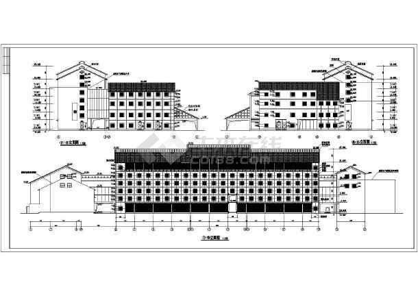 某地四层宾馆建筑施工图(共九张)-图1