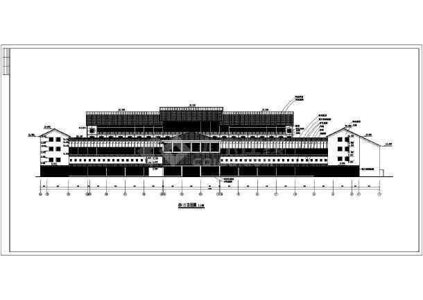 某地四层宾馆建筑施工图(共九张)-图2