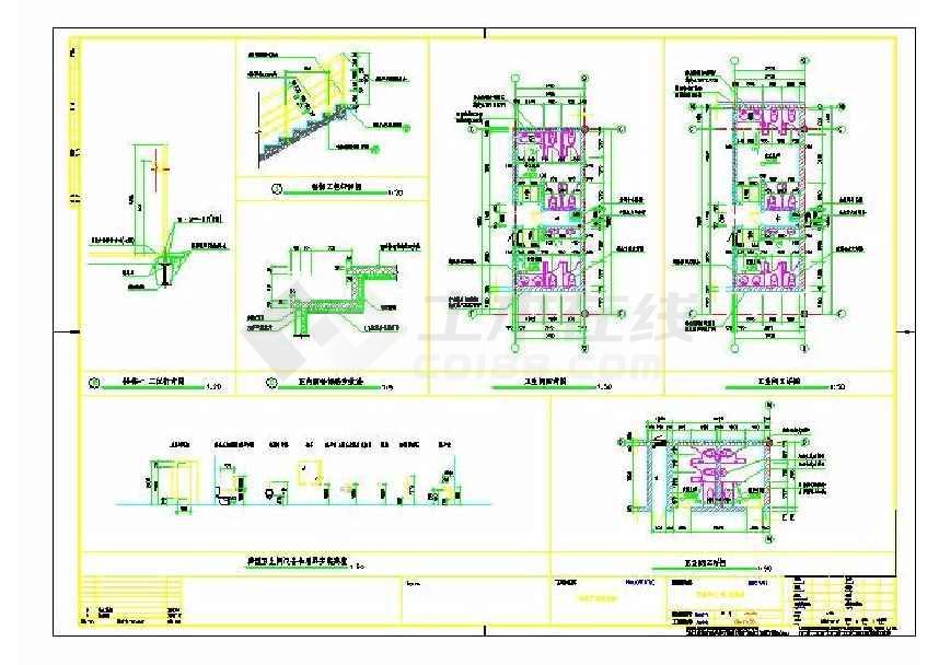 某地城市广场三层商业楼建筑施工图-图1