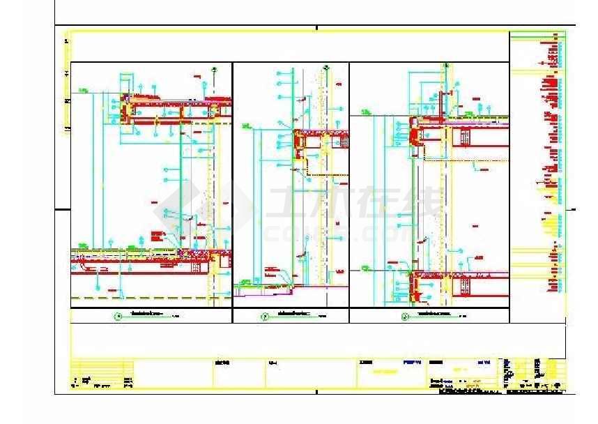 某地城市广场三层商业楼建筑施工图-图2
