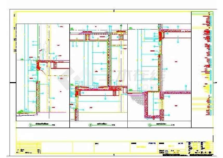 某地城市广场三层商业楼建筑施工图-图3