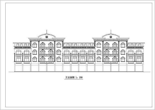 某欧式商场建筑设计CAD施工图-图1