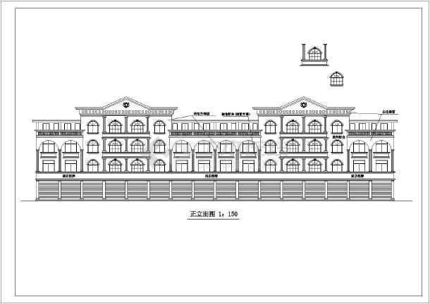 某欧式商场建筑设计CAD施工图-图3