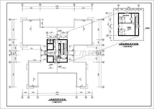 点击查看某高层住宅建筑cad施工图第1张大图