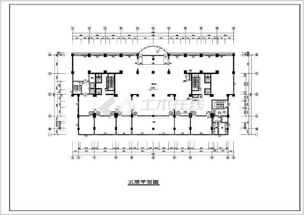 点击查看某高层住宅建筑cad施工图第2张大图