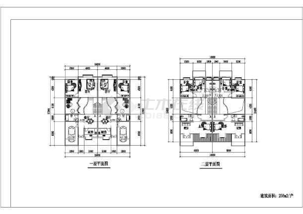 256平米别墅建筑设计施工图-图1