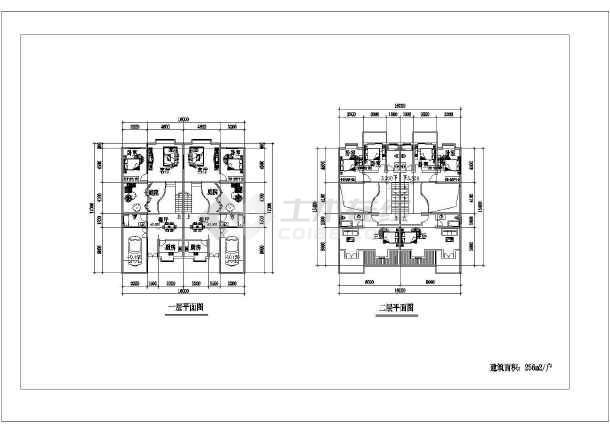 256平米别墅建筑设计施工图-图2