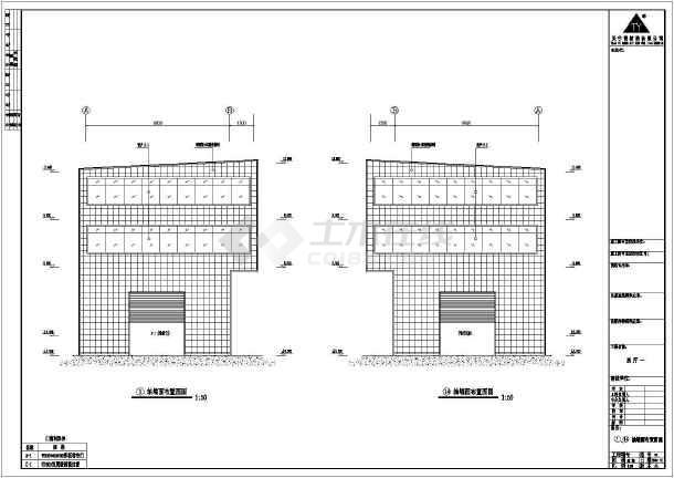 某大型公司钢结构工程设计CAD图-图1