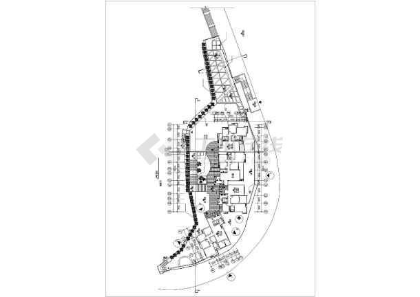 某售楼样板区建筑设计施工图-图3