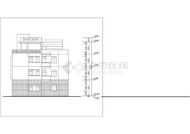 某居民区住宅楼建筑设计图-图1