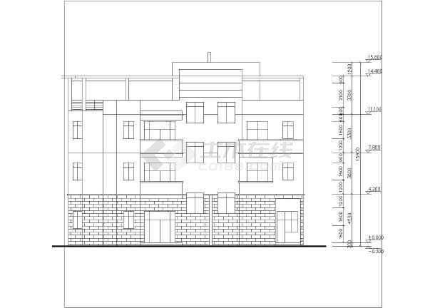 某居民区住宅楼建筑设计图-图2
