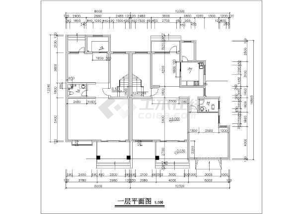 某居民区住宅楼建筑设计图-图3