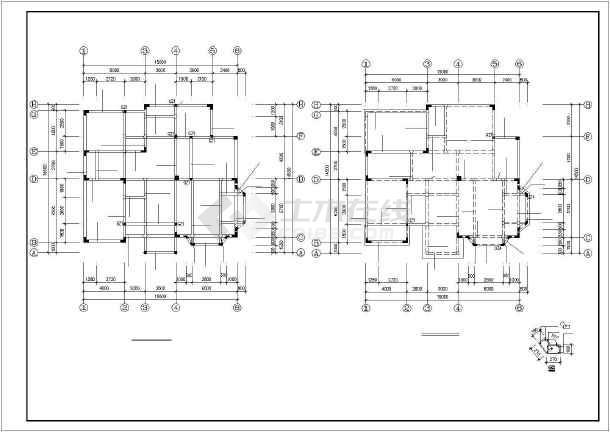 某海景别墅建筑结构设计图纸-图1