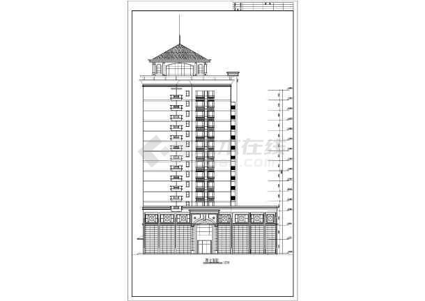 某小高层住宅楼建筑设计方案图-图1