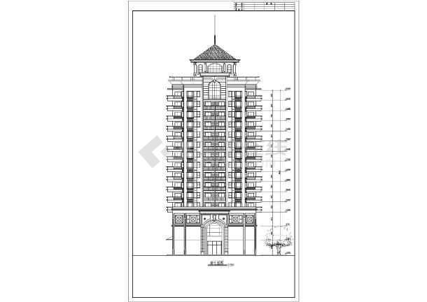 某小高层住宅楼建筑设计方案图-图2