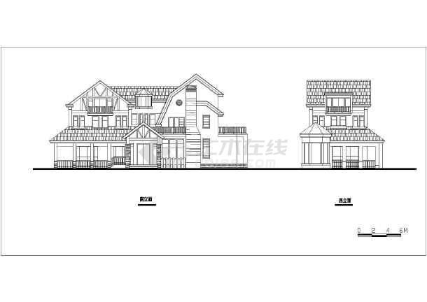 某带地下室小别墅建筑设计方案图-图2