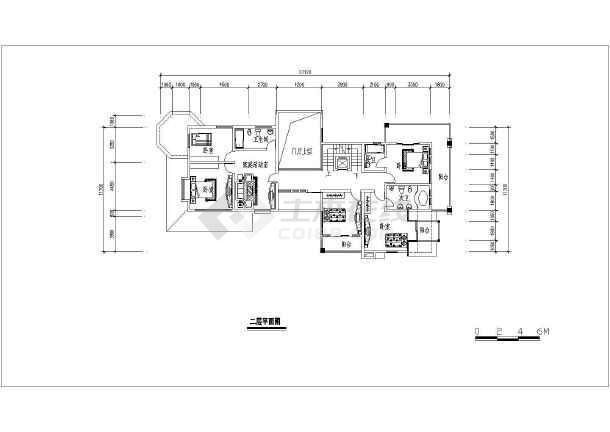 某带地下室小别墅建筑设计方案图-图3