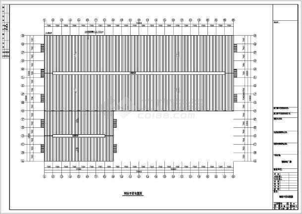 一套典型的石材钢结构cad图纸(共7张)-图二