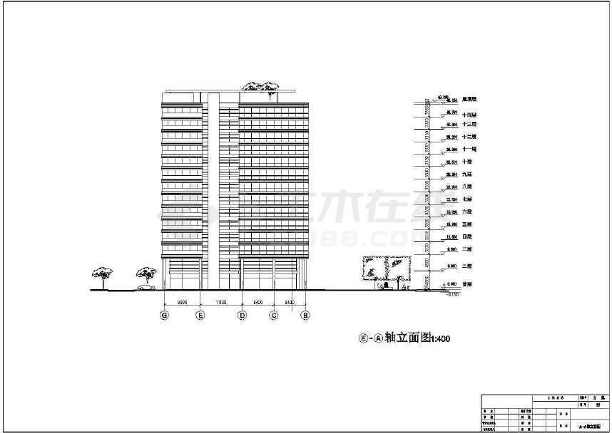 某地十四层详细商业综合楼建筑施工图-图3