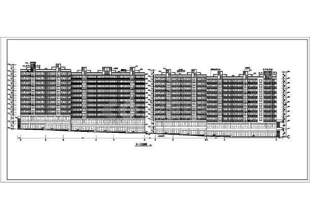 某小高层住宅楼建筑设计方案CAD图-图3