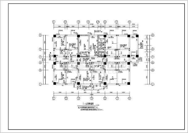 某框架剪力墙结构高层宾馆全套结构施工图-图1