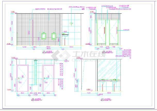 某大酒店室内装修设计全套施工图-图2