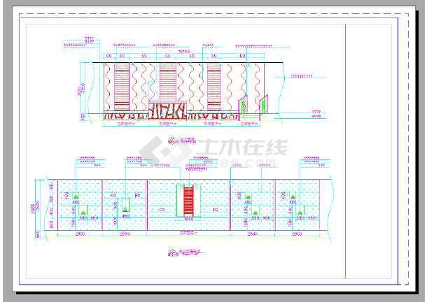 某大酒店室内装修设计全套施工图-图3