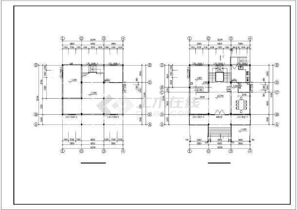 水乡小别墅全套建筑设计图纸-图1