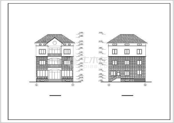 水乡小别墅全套建筑设计图纸-图2