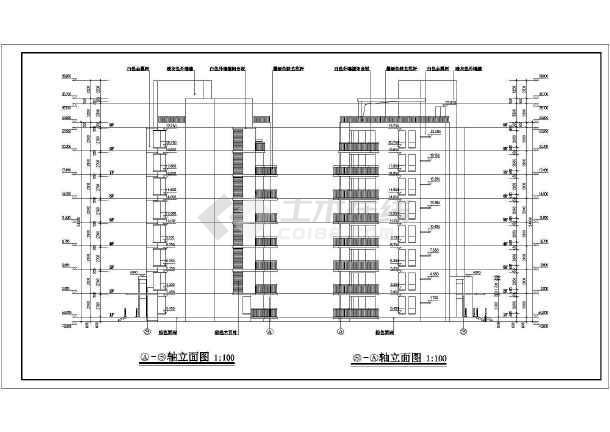 某小高层住宅楼建筑设计CAD图-图1