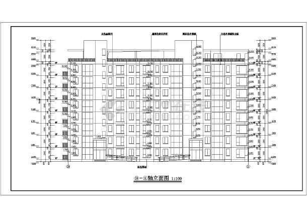 某小高层住宅楼建筑设计CAD图-图2