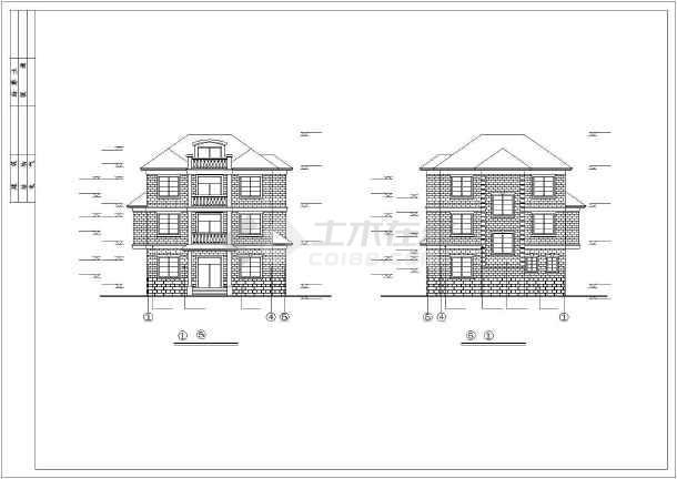乡村小别墅建筑施工图-图1