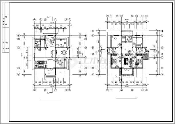 乡村小别墅建筑施工图-图3