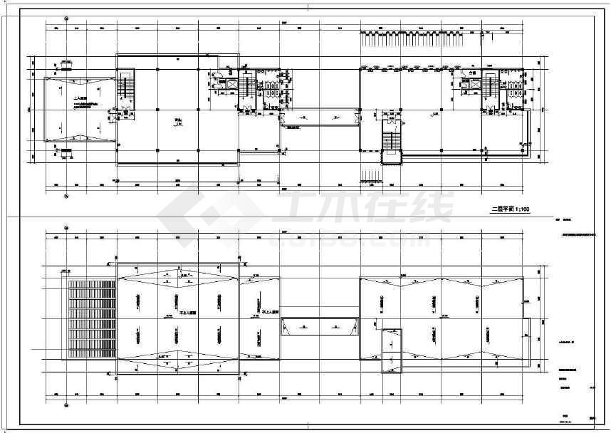 某地商业街工程建筑结构水电施工图-图一