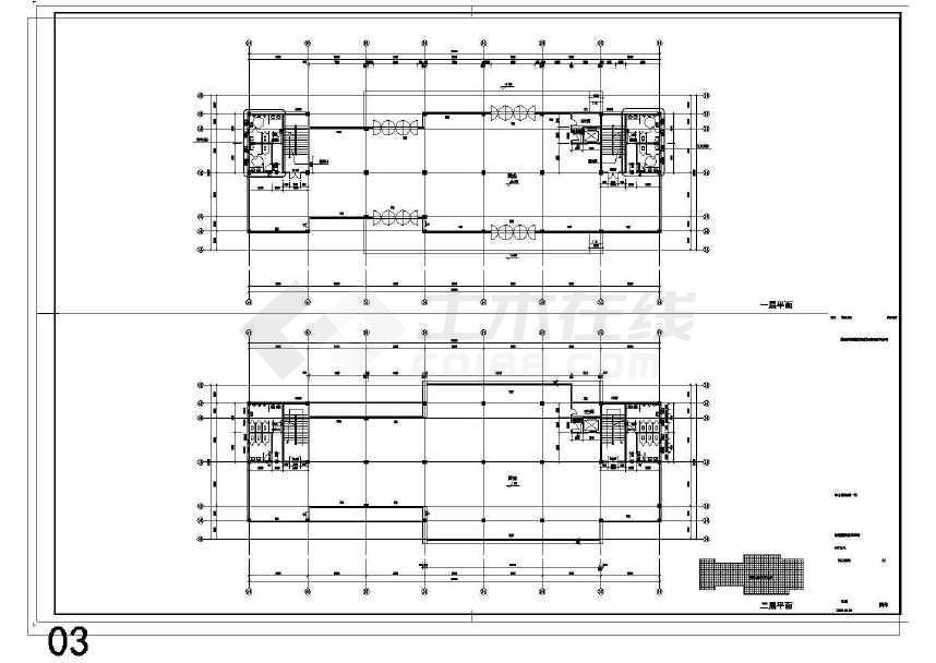 某地商业街工程建筑结构水电施工图-图二