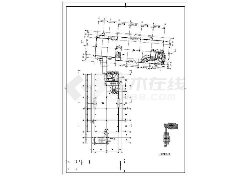 某地商业街工程建筑结构水电施工图-图3