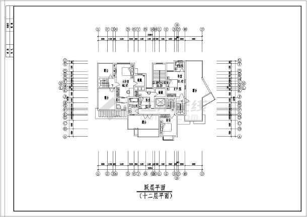 某地点式小高层住宅楼建筑图-图1