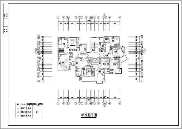 某地点式小高层住宅楼建筑图-图2