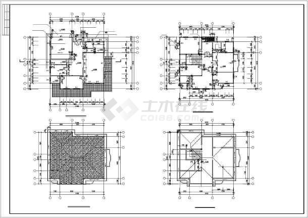水上小别墅建筑设计施工图-图1