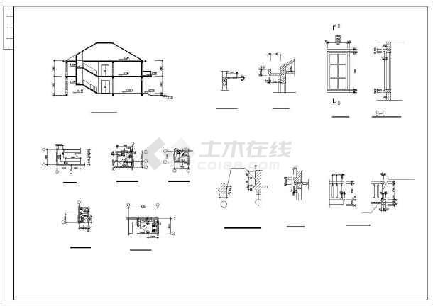 水上小别墅建筑设计施工图-图2